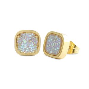 Picture of White Faux Druzy Studs